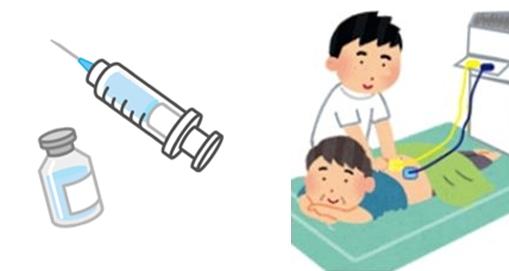 注射や電気治療