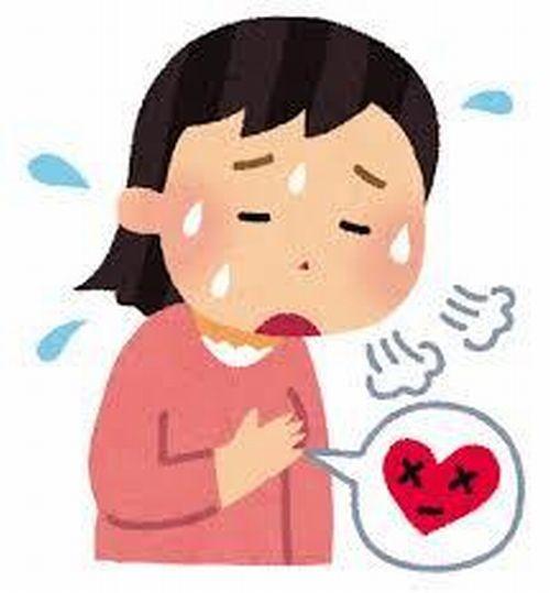 動悸、息切れがする女性