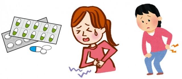 生理痛 腰痛 腹痛 お薬